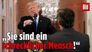 Eklat bei Pressekonferenz: Trump fetzt sich mit CNN-Reporter