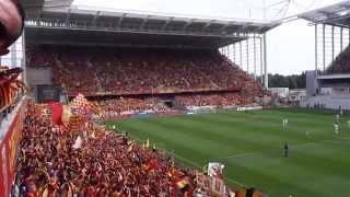 Les Corons, chanté par le stade Bollaert-Delelis (RCL-RSFC 08/08/2015)