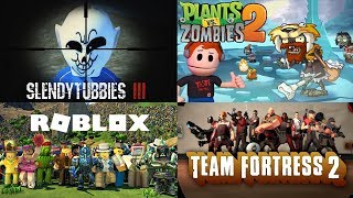 4 IN 1 LIVESTREAM | PLANTS VERSUS ZOMBIES 2 , TF2, ROBLOX - STOP IT SLENDER AND SLENDYTUBBIES 3