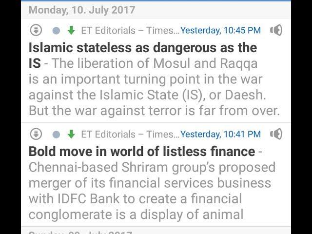 10 July 2017 | Economic times Audio editorial | English