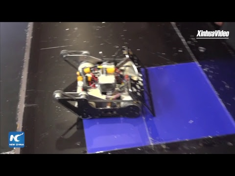 LIVE: Robot combat competition at World Robot Conference in Beijing