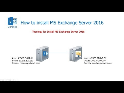 Install MS Exchange Server 2016 on Server 2012 R2 - YouTube