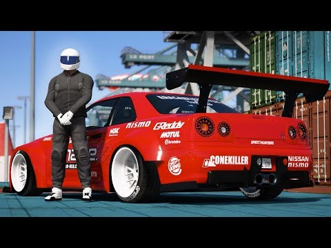 GTA 5 - NISSAN SKYLINE GTR DRIFT MONTAGE! (Port of Los Santos Gymkhana)