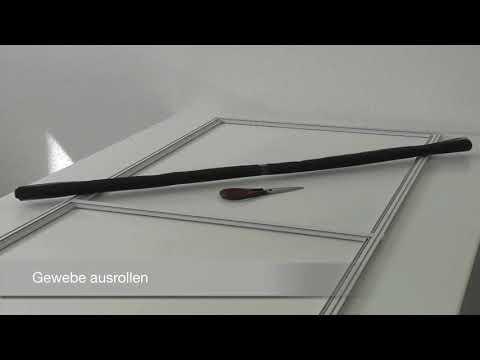 Irs Moskitonetz Rollo für Fenster und Tür in Kit Universal Zum Schieben Weiß