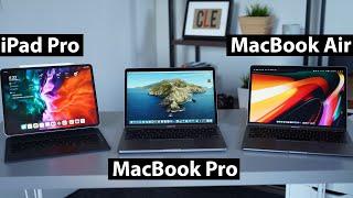 "13"" MacBook Pro vs 13"" MacBook Air vs 12.9"" iPad Pro - Which Should You Buy?"