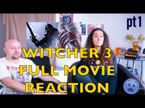 Witcher 3 FULL MOVIE reaction | watching the wild hunt is a wild ride!!