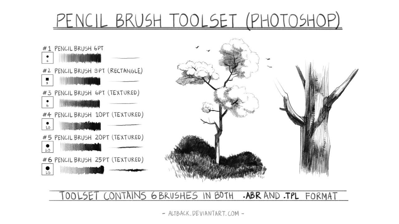 pencil brush toolset ver 10 photoshop