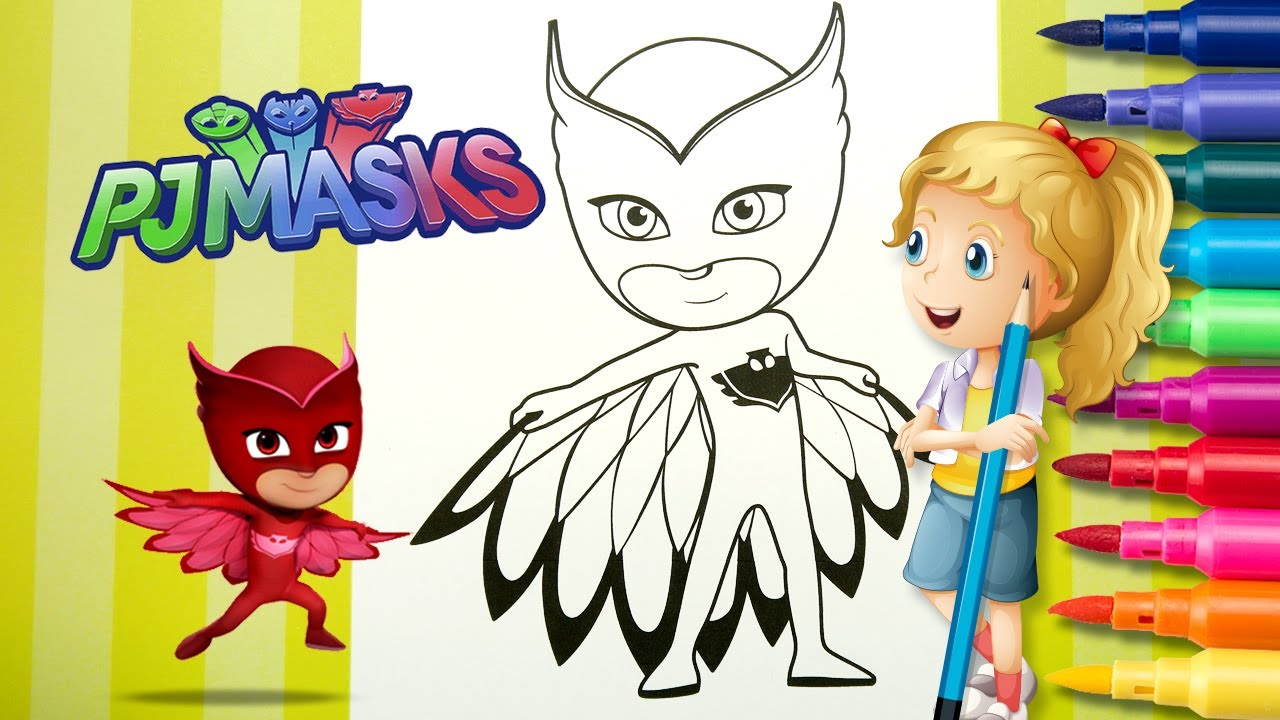 Coloring Pj Masks Videos Eulette Coloring Page Coloring With Katy 4k