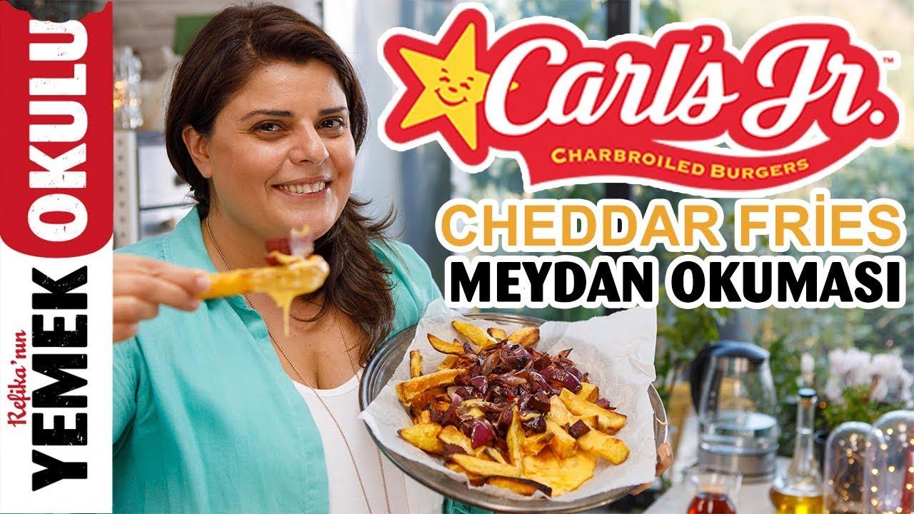 Carl's Jr. Cheddar Fries (Challenge) Meydan Okuması | Sucuklu, Doyurucu Patates Kızartması Tari