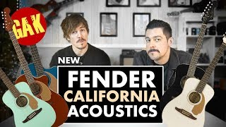 New Fender California Acoustic Series