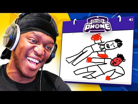 Gartic Phone but it's YouTube Boxing... (Sidemen Gaming)