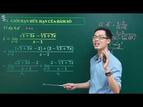 Giới hạn hàm số chứa căn dạng 0 trên 0 – Toán 11- Thầy Nguyễn Công Chính