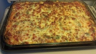 The Making Of A Chicken-spinach-eggplant Lasagna (low Carb)