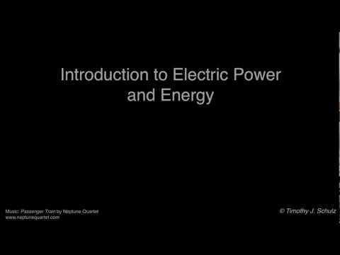 Introduction to Electric Power and Energy