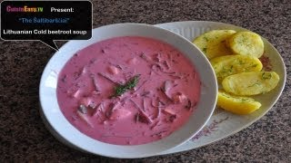 Lithuanian cold beetroot soup, the Šaltibarščiai