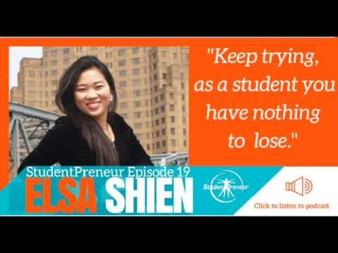 StudentPreneur Podcast #19:  Elsa's business supports her while studying overseas.