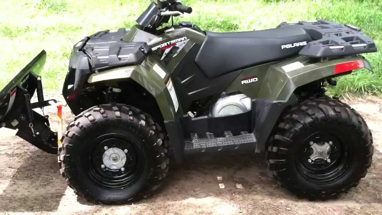 Like new 2009 polaris sportsman 400 with winch and plow youtube sciox Gallery