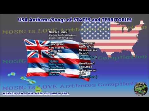 "Hawaii State Anthem ""Hawai`i Pono`i"" with vocal and lyrics"