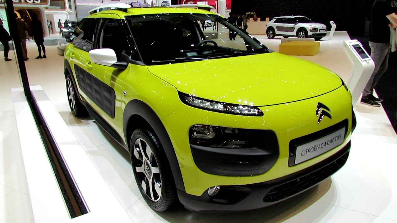 Citroen C4 Cactus Green >> 2015 Citroen C4 Cactus - Exterior and Interior Walkaround - 2014 Geneva Motor Show - YouTube
