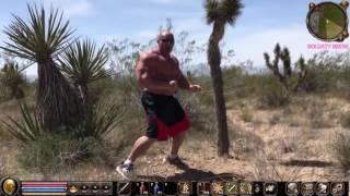 Hardkorowy koxu trenuje na pustyni w metinie przed walka z Popkiem 2017 Video