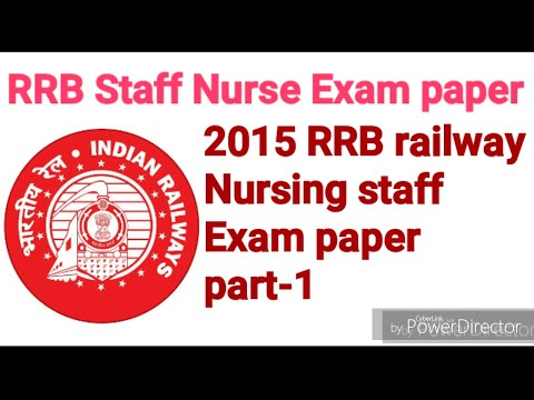 RRB STAFF NURSE EXAM PAPER 2015 WITH ANSWER, PART-1