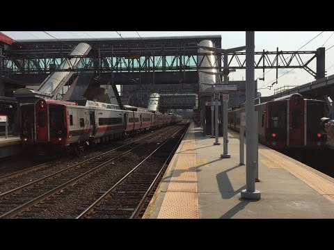 Amtrak & Metro-North Railroad HD 60fps: Late Afternoon & Evening Action @ Stamford, CT (7/5/15)