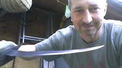 Selbstgeschmiedete Messer Nachtrag ``Das Entermesser`` Selfforged Pirat´s Boarding grabble knive