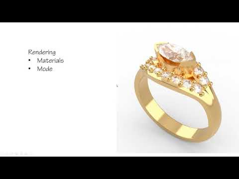 Designing Jewelry for Manufacturing with Rhino 6 – Webinar