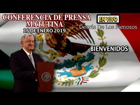 #EnVivo CONFERENCIA MATUTINA DE AMLO 16/Enero/2019 La conferencia esperada