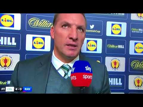 Brendan Rodgers After Celtics Fine 4-0 Win Against Sevco in the Scottish Cup Semi Final 15 th April