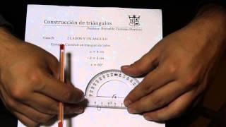 Construcción de un triángulo conociendo dos ángulos y un lado