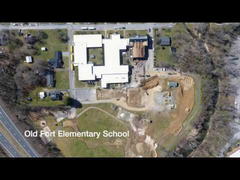 Old Fort Elementary School Construction Update on 2/25/2019
