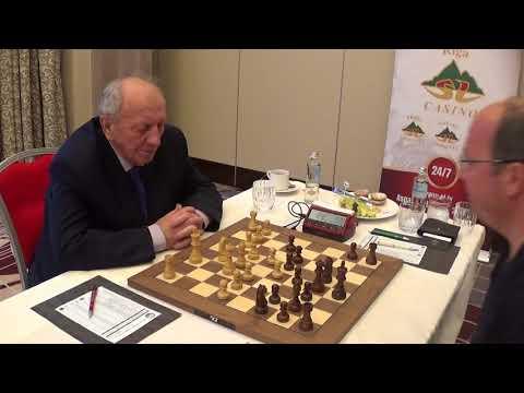 GM Evgeny Sveshnikov - Oleg Skvortsov, match at Kempinski Hotel, Riga, Caro-Kann, GAME II, PART II