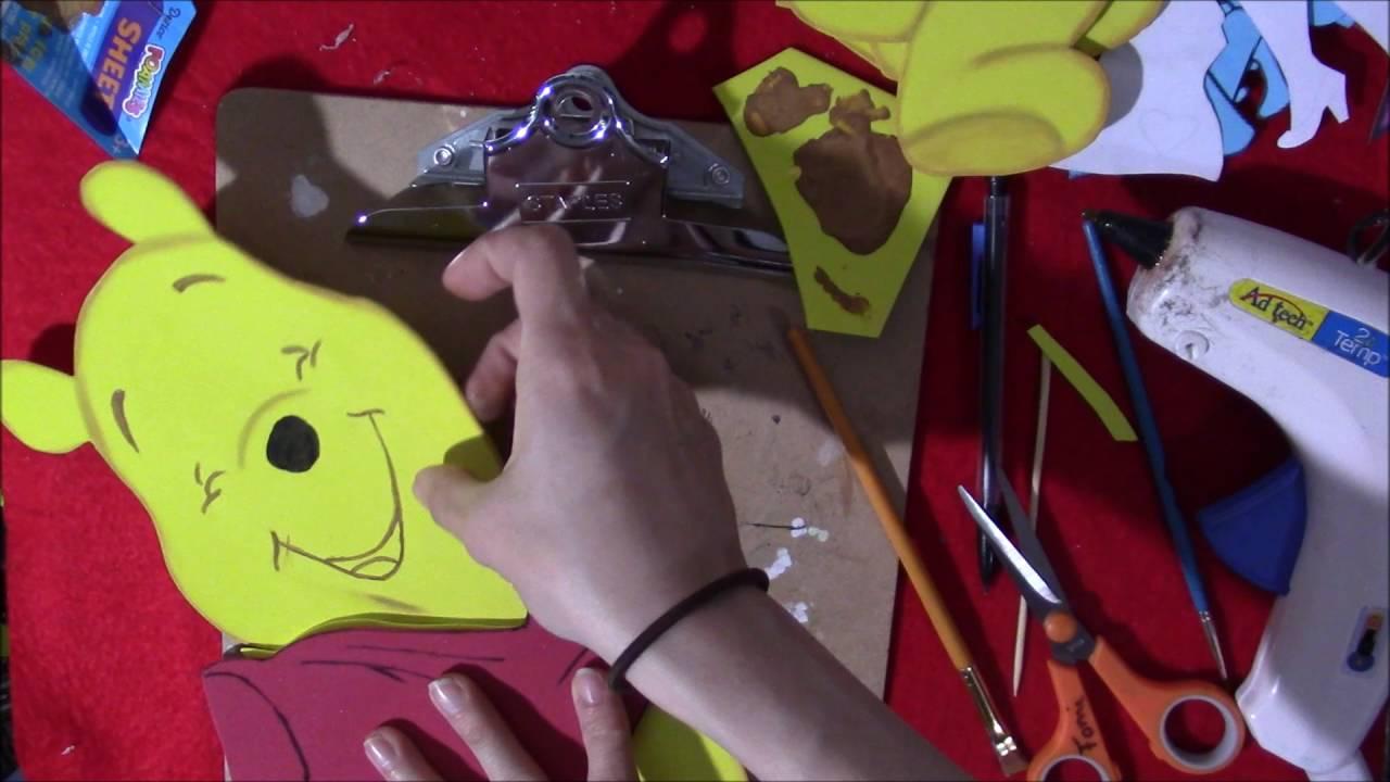 Winie The Pooh En Foami Con Moldes - YouTube