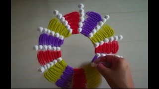 Very creative and easy rangoli design