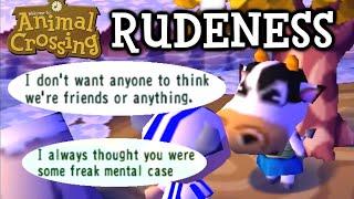 Animal Crossing Rudeness