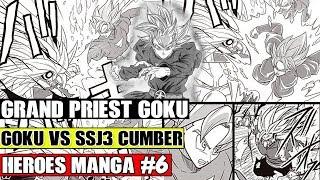 GRAND PRIEST GOKU VS CUMBER! Dyspo And Evolution Blue Vegeta Vs Kaminoren! Dragon Ball Heroes Manga