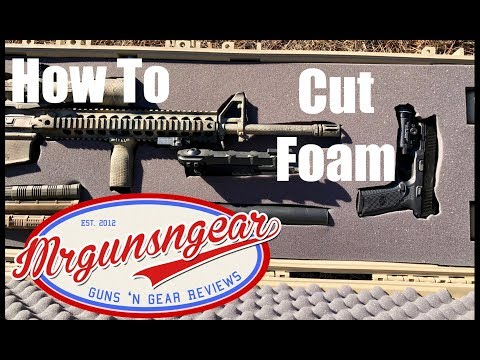 How To Easily Cut Rifle & Camera Case Foam (4K)