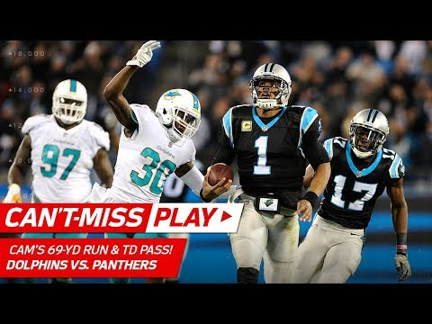 Cam Newton's 69-Yd Run Leads to Christian McCaffrey's Toe-Tap TD!   Can't-Miss Play   NFL Wk 10