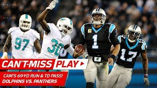 Cam Newton's 69-Yd Run Leads to Christian McCaffrey's Toe-Tap TD! | Can't-Miss Play | NFL Wk 10