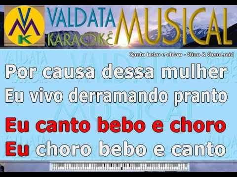 Canto bebo e choro   Gino & Geno   Karaoke