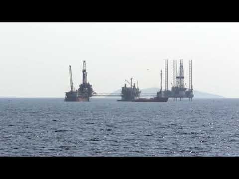 Prinos, Thasos island, Greece. The one and only active oilfield in Greece