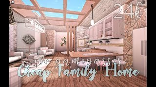 Bloxburg: Cheap Family Home No Gamepasses 24k