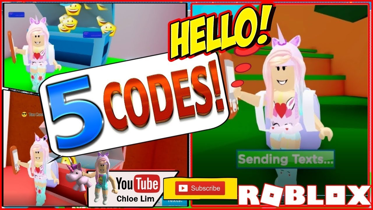 Roblox Texting Simulator Gameplay! 5 Working Codes! Showing
