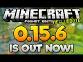 MCPE 0.15.6 IS OUT NOW! - New 0.15.6 Update Released iOS & Android - Minecraft PE (Pocket Edition)