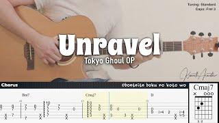 (FREE TAB) Unravel - Tokyo Ghoul OP | Fingerstyle Guitar | TAB + Chords + Lyrics