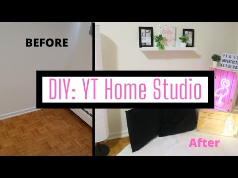 DIY: Build A YouTube Home Studio W/ Me In 10 Mins