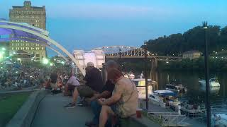 Charleston WV Live on the Levee time lapse - corrected aspect ratio