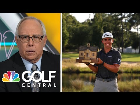 Garrick Higgo comes from six back for 'life-changing' Palmetto win | Golf Central | Golf Channel