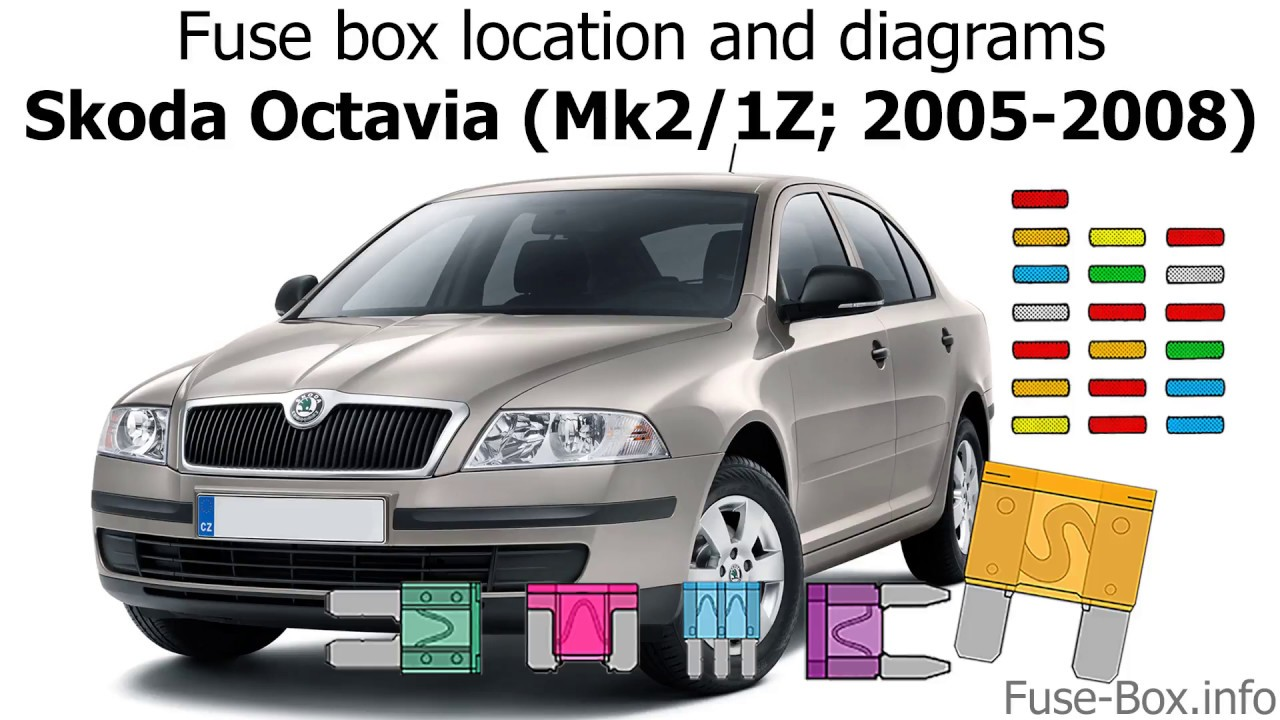 fuse box location and diagrams skoda octavia mk2 1z 2005 2008  [ 1280 x 720 Pixel ]